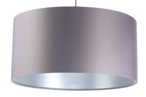 Šedá závěsná lampa Kožená 60W E27 saténová, stříbrná small 7