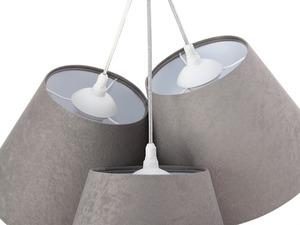 Tříbodová závěsná lampa BUCKET E27 60W šedá / bílá, semiš small 3