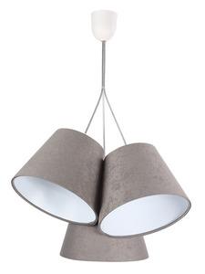 Tříbodová závěsná lampa BUCKET E27 60W šedá / bílá, semiš small 5