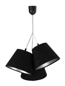 Trojitá lampa nad stolem BUCKET E27 60W černá / stříbrná, nastavitelná small 0