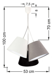 Trojitá stolní lampa BUCKET E27 60W bílá / šedá / černá small 6