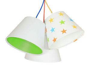 Lampa pro děti BUCKET E27 60W barevné hvězdy, zelená small 1