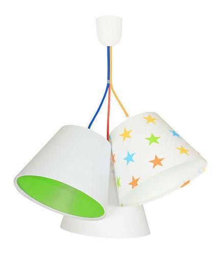 Lampa pro děti BUCKET E27 60W barevné hvězdy, zelená