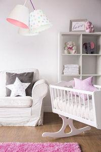 Lampa do dětského pokoje BUCKET E27 60 W tečky, bílá small 1