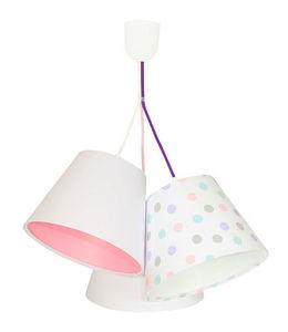 Lampa do dětského pokoje BUCKET E27 60 W tečky, bílá small 0
