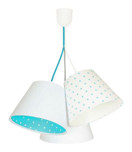 Lampa pro chlapecký pokoj BUCKET E27 60W bílá / modrá, hvězdy