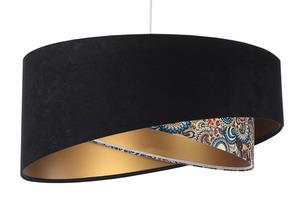 Závěsné stropní svítidlo Elegance 60W E27 černé / etnické vzory / zlato small 0