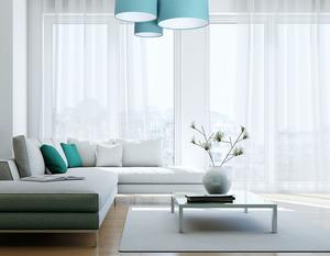 Prvky 60W E27 modrý / bílý plstěný trojitý strop small 1
