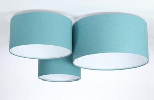 Prvky 60W E27 modrý / bílý plstěný trojitý strop small 2