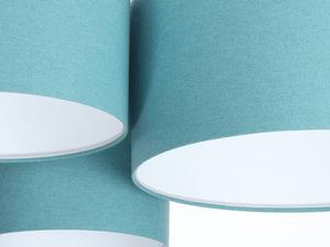 Prvky 60W E27 modrý / bílý plstěný trojitý strop small 3