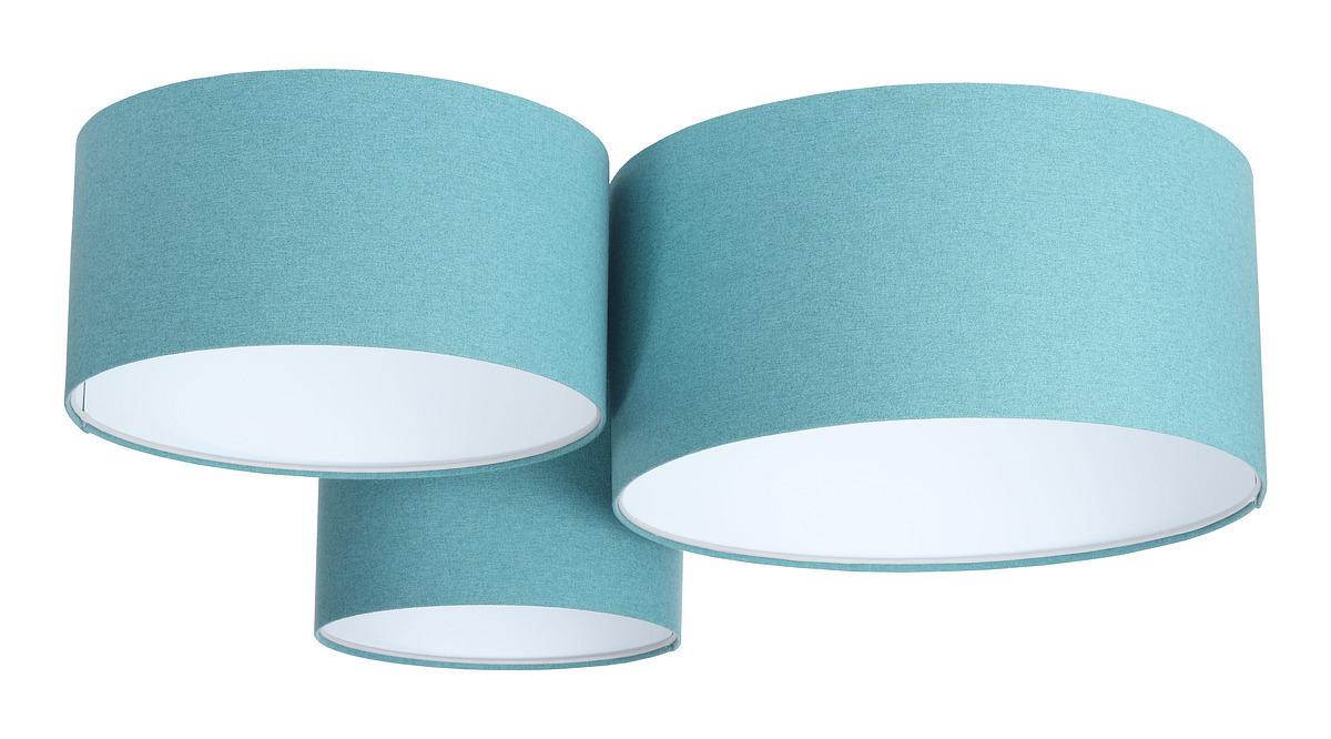 Prvky 60W E27 modrý / bílý plstěný trojitý strop