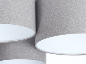 Classic Elements 60W E27 šedá / bílá cítil stropní stropní lampa small 3