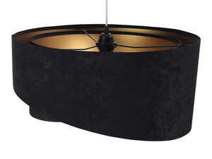 Lampa Elegance 60W E27 asymetrická, velurová, černá / zlatá small 3