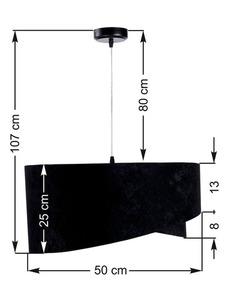 Lampa Elegance 60W E27 asymetrická, velurová, černá / zlatá small 6