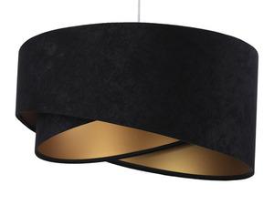 Lampa Elegance 60W E27 asymetrická, velurová, černá / zlatá small 5