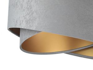 Šedá závěsná lampa Elegance 60W E27 asymetrický zlatý velur small 1