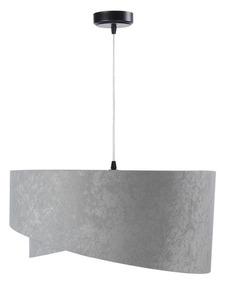 Šedá závěsná lampa Elegance 60W E27 asymetrický zlatý velur small 2