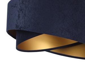 Kulatá závěsná lampa Elegance 60W E27 navy blue / gold, velur small 1