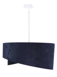 Kulatá závěsná lampa Elegance 60W E27 navy blue / gold, velur small 2