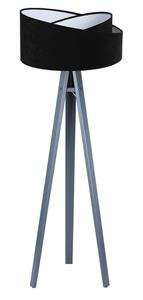 Stojací lampa do obývacího pokoje Crown 60W E27 velur, černá / bílá small 1