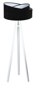 Stojací lampa do obývacího pokoje Crown 60W E27 velur, černá / bílá small 3