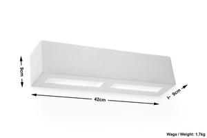 LIBRA SLA.0162 Bílá keramická nástěnná lampa small 4