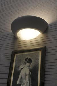 VIRGO SLA.0164 Bílá keramická nástěnná lampa small 3