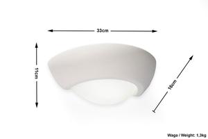 VIRGO SLA.0164 Bílá keramická nástěnná lampa small 4