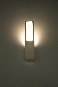 Bílá keramická nástěnná lampa COMMA GLASS SLA.0172 small 2