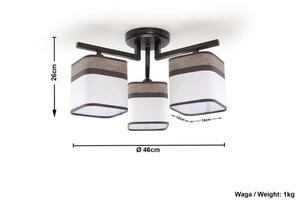 Stropní lampa Wenge LATTE 3 SLA.0177 small 4