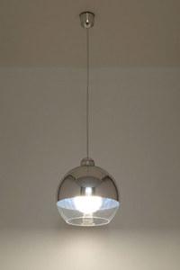 Bílá závěsná lampa COSMO Chrome SLA.0181 small 2