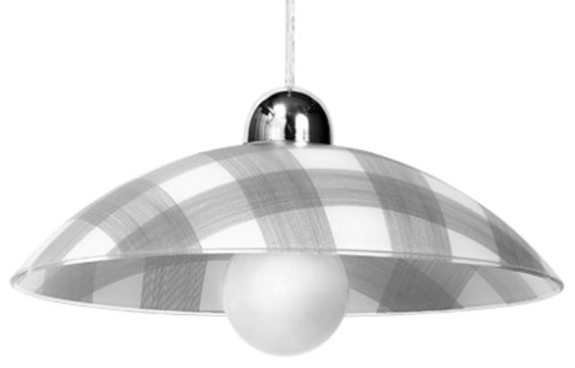 Bílá a šedá závěsná lampa TELA SLA.0184
