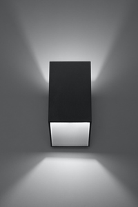 Černá nástěnná lampa TUNNEL SLA.0200 small 1