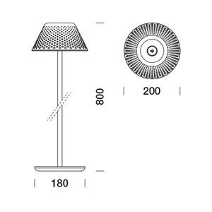 Platek MESH stojací lampa 80cm - 3000K small 6