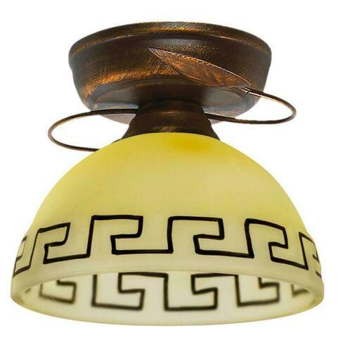 Retro stropní lampa bronz + měď