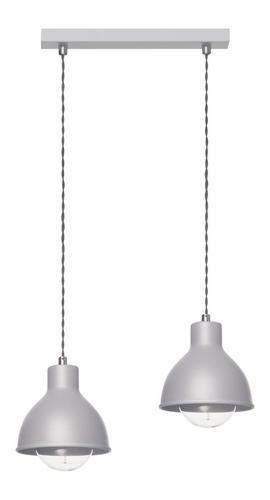 Design Závěsná lampa Zoe 2 L Šedá
