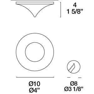 Eyelet Itre (Leucos) halogenové svítidlo SDC 891 1X50W GU5,3 small 3