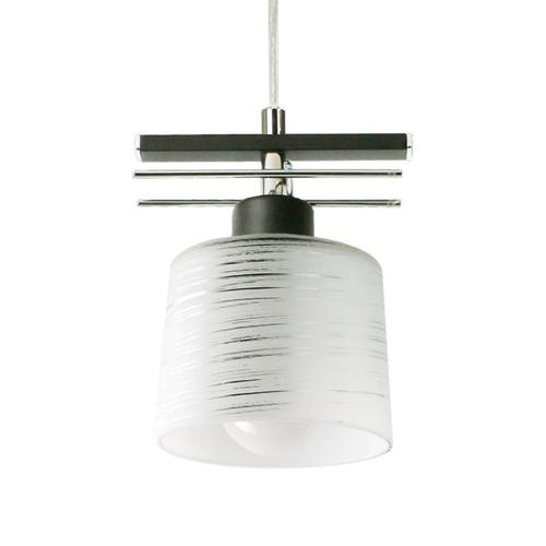 Klasická černá závěsná lampa Olimp 1