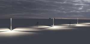 Zahradní lucerna Platek - TRIS COB LED 3000K small 9
