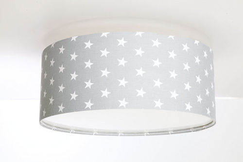 Šedá Luminance stropní lampa pro dětský pokoj s E27 60W LED hvězdami