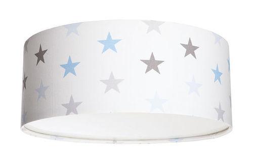 Luminance E27 60W LED stropní lampa pro chlapce s bílými / šedými / modrými hvězdami