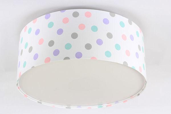 Osvětlení dětského pokoje - Luminance E27 60W LED pastelové tečky strop