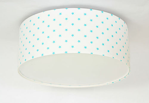 Luminance E27 60W LED bílá / modrá LED stropní lampa pro děti