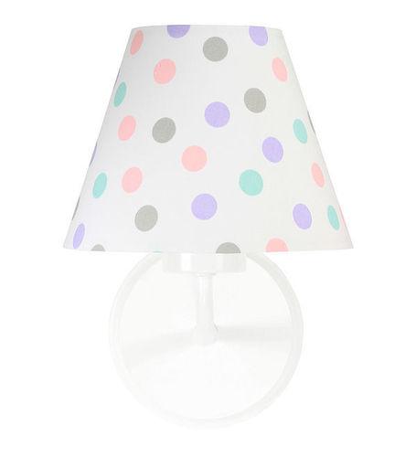 Bílá nástěnná lampa Raggio E27 60W do dětského pokoje, tečky
