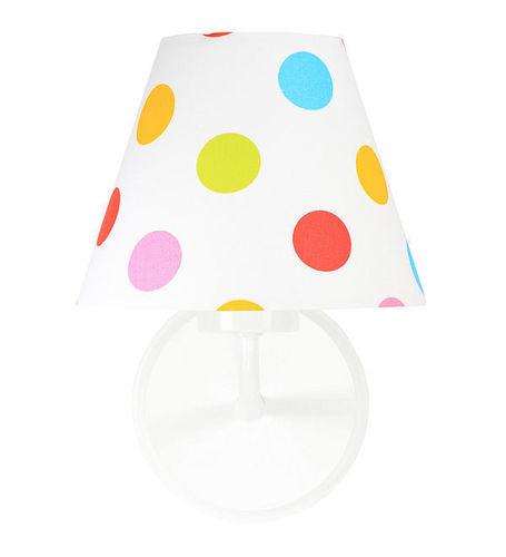 Kužel nástěnné lampy s barevnými tečkami Raggio E27 60W pro děti