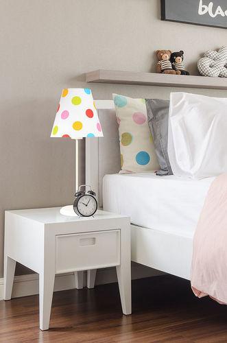 Lampa pro děti Ombrello 60W E27 50cm barevné tečky, na stole
