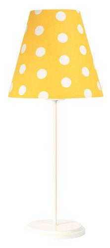 Stolní lampa pro dítě Ombrello 60W E27 50cm zlaté / bílé tečky