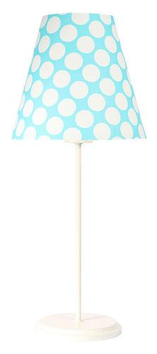 Stolní lampa se stínidlem Ombrello 60W E27 50cm modré / bílé tečky