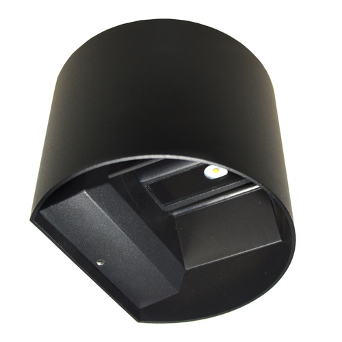LED fasádní svítidlo Kreo 2x3W kulaté 4000K černé Kreo 2x3w 4000K nastavitelný úhel osvětlení