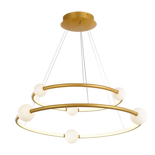 Bronzová LED závěsná lampa Lausanne